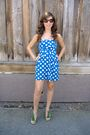 Blue-forever-21-dress-green-steve-madden-shoes-bebe-accessories-guess-sung