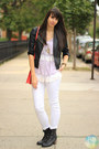 Black-forever-21-boots-white-zara-jeans-black-h-m-jacket
