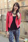 Hot-pink-target-blazer-black-shop-in-amsterdam-boots