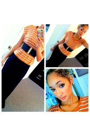 orange H&M t-shirt - Forever 21 dress