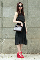 Avenues sandals - From My Last Japan Trip dress - Vintage Hermes Kelly bag