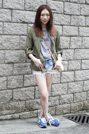 Zara coat - Rodarte shirt - Gucci vintage bag - New Balance 574 sneakers