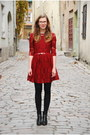 Black-tamaris-boots-brick-red-skater-lace-choies-dress