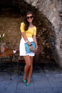 Black-seppl-sunglasses-yellow-worn-as-a-top-gina-tricot-dress