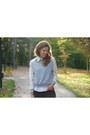 Silver-lace-sleeve-oasap-sweatshirt-black-lindex-jeans