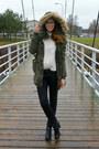 Black-tamaris-boots-olive-green-parka-amisu-coat-black-lindex-jeans