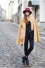 Black-tamaris-boots-black-vero-moda-jeans-maroon-vintage-hat