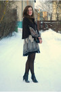 Black-tamaris-boots-tan-lace-dorothy-perkins-dress