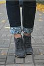 Silver-vintage-gap-sweatshirt-heather-gray-angelo-carutti-boots