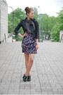 Black-leather-random-brand-jacket-deep-purple-printed-h-m-skirt