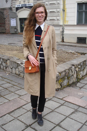 black lindex jeans - heather gray angelo carutti boots - beige H&M coat