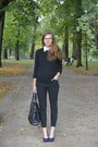 Black-monki-jeans-black-cubus-sweater-deep-purple-seppälä-heels