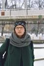 Teal-oversized-stylemoi-coat-black-h-m-hat-black-backpack-mÄrss-bag