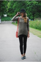 black Vero Moda jeans - black lindex hat - heather gray Vero Moda sweater