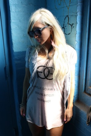 romwe shirt - Kenzie sunglasses - Forever 21 cardigan - armor asos ring