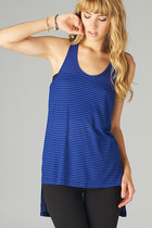 HI LOW RACER BACK STRIPED TANK TOP