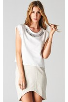 crystal collar PUBLIK top - PUBLIK skirt