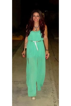 aquamarine chiffon mimo dress