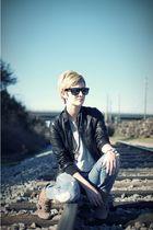 brown Dolce Vita boots - black Forever 21 jacket