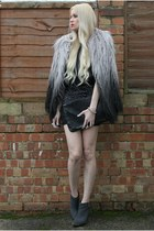 Topshop coat - Topshop boots - AX Paris dress