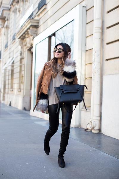 light brown suede Aritzia jacket