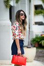 Red-shirt-asos-shirt-red-red-fendi-bag-navy-lace-up-topshop-shorts