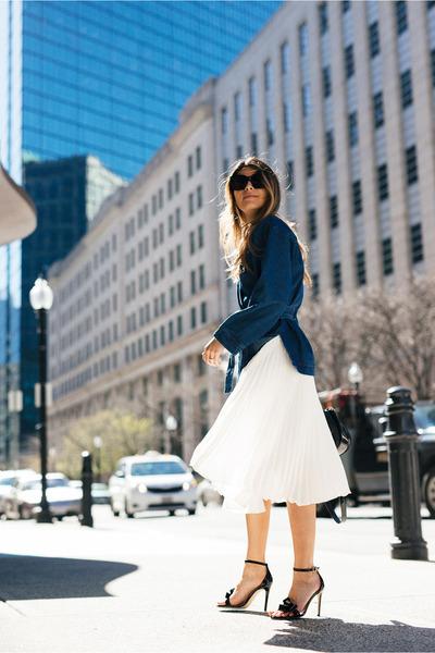 white midi Express skirt
