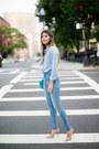 Light-blue-denim-7-for-all-mankind-jeans-light-blue-chambray-jcrew-top