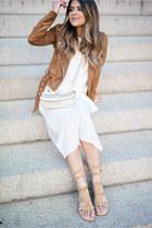 white midi JOA dress