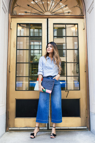 blue culottes madewell jeans
