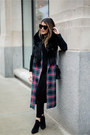 Magenta-tartan-print-the-fifth-label-vest