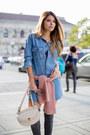 Heather-gray-stuart-weitzman-boots-light-blue-denim-forever-21-romper