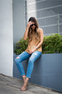 Light-blue-ripped-topshop-jeans-tan-suede-topshop-top