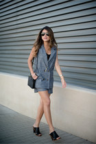 charcoal gray matching set Chicwish vest