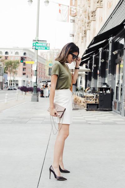 ivory wrap Topshop skirt
