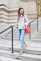 light blue ripped rag & bone jeans