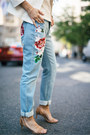 Light-blue-embroidered-french-connection-jeans