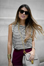 Heather-gray-chloe-bag-maroon-high-waist-forever-21-skirt