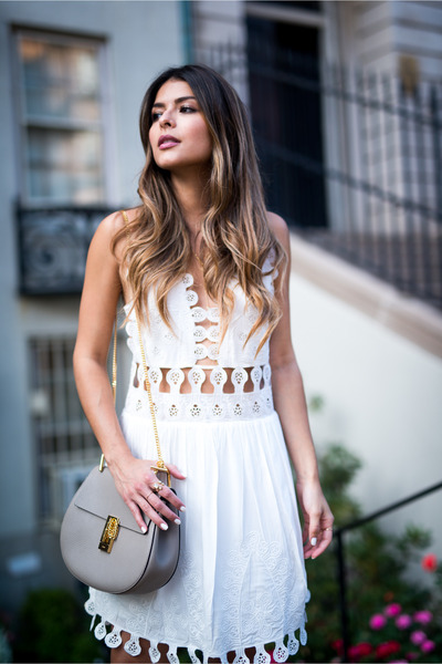 Lace-one-by-honey-punch-dress-grey-chloe-bag