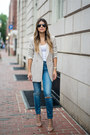 Light-blue-ripped-madewell-jeans-neutral-blazer-topshop-blazer