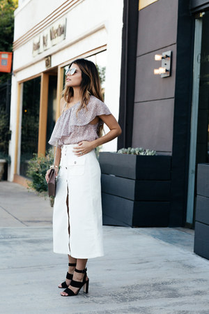 white midi asos skirt