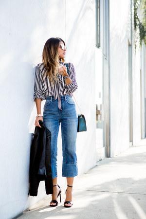 black striped H&M blouse
