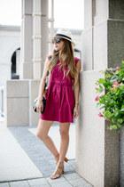 maroon crochet Loft dress