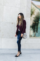 maroon suede BB Dakota jacket