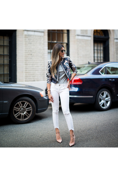 White-ripped-free-people-jeans-navy-embroidered-bcbg-max-azria-jacket