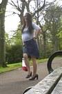 Periwinkle-ben-sherman-top-navy-levis-silvertab-skirt-black-next-heels