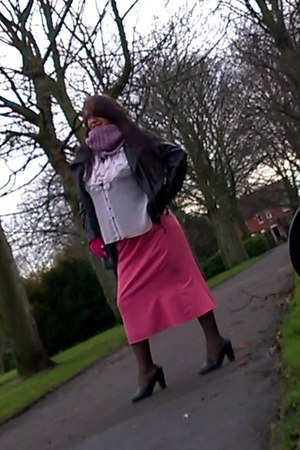 black redherring jacket - white Dorothy Perkins blouse - pink Delmod skirt