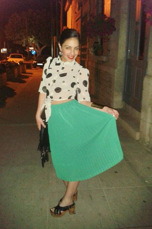 aquamarine new look skirt - black Mango clogs