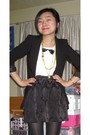 Black-h-m-jacket-white-china-blouse-black-bb-dakota-skirt-green-jcrew-neck