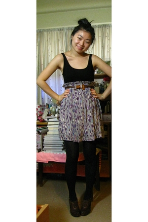 Urban Outfitters dress - China belt - Anthropologie shoes